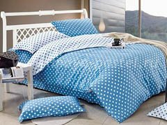 """Комплект постельного белья """"Голубое в горошек"""""""
