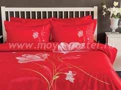 """Комплект постельного белья """"Цветы на красном"""""""