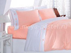 """Комплект постельного белья """"Белый с розовым"""""""