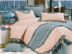 """Комплект постельного белья """"Розовый с серым"""""""