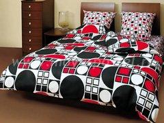 """Комплект постельного белья """"Чёрно-красные фигуры"""""""