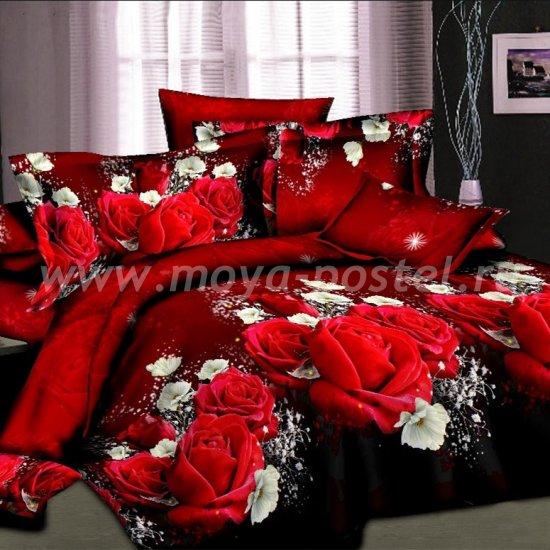 """Комплект постельного белья из сатина """"Красная роза"""""""