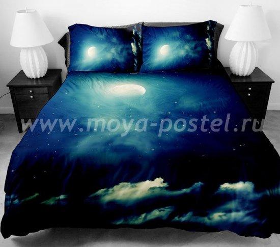 """Комплект постельного белья из сатина """"Луна и звезды"""" в интернет-магазине Моя постель"""