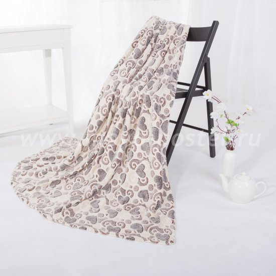 Флисовый плед «Сердечки» (180х200) в каталоге интернет-магазина Моя постель
