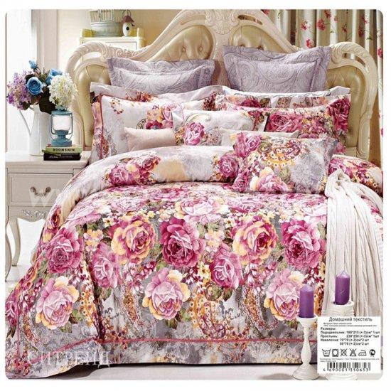 Семейное постельное белье жаккардовый люкс гобелен  E001 в интернет-магазине Моя постель