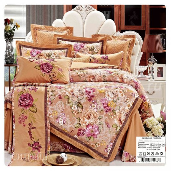 Двуспальное постельное белье жаккардовый люкс гобелен E002 в интернет-магазине Моя постель