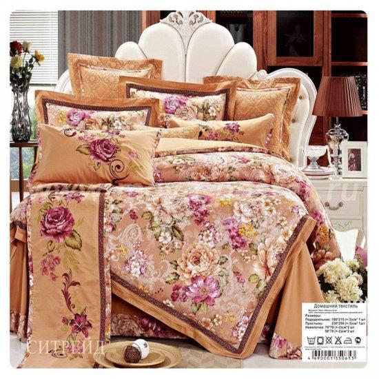 Семейное постельное белье жаккардовый люкс гобелен E002 в интернет-магазине Моя постель