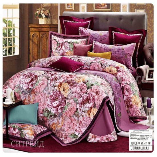 Двуспальное постельное белье жаккардовый люкс гобелен E003 в интернет-магазине Моя постель