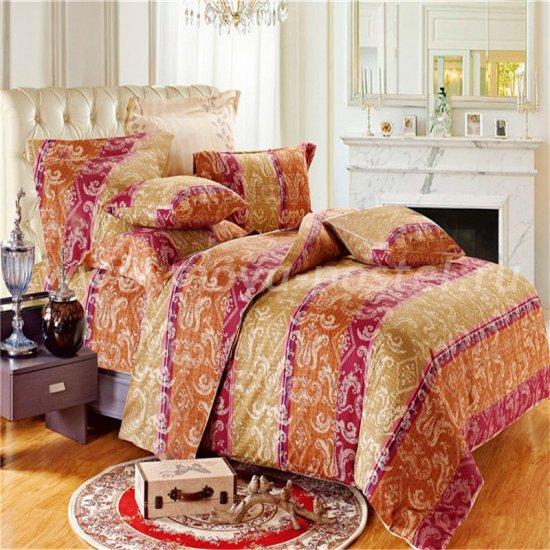 Двуспальный комплект постельного белья делюкс сатин L69 в интернет-магазине Моя постель