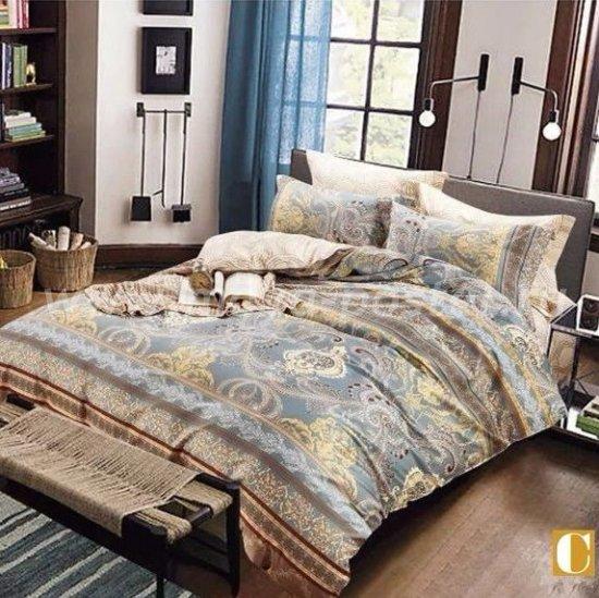 Семейный комплект постельного белья делюкс Дуэт сатин L112 в интернет-магазине Моя постель