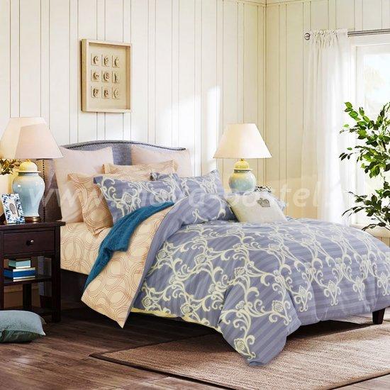 Евро комплект постельного белья делюкс сатин L119 в интернет-магазине Моя постель