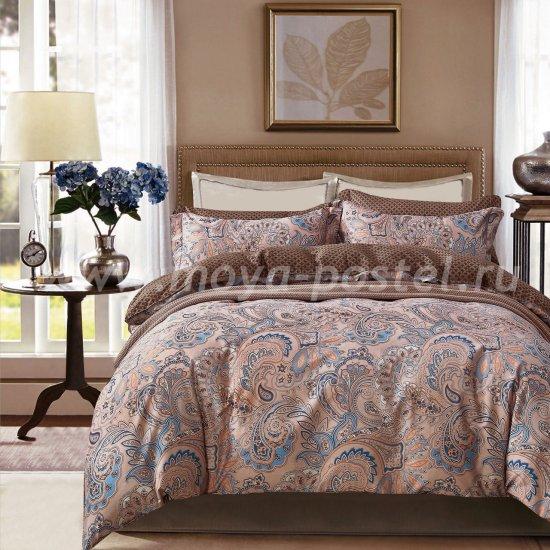 Евро комплект постельного белья делюкс сатин L122 в интернет-магазине Моя постель