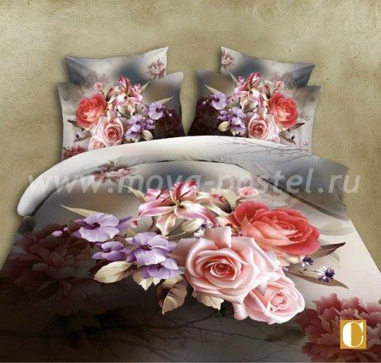 Постельное белье 3D M136 (евро, 50*70) в интернет-магазине Моя постель