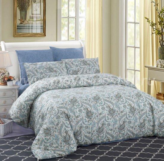 Евро комплект постельного белья с растительным узором C257, сатин (50*70) в интернет-магазине Моя постель