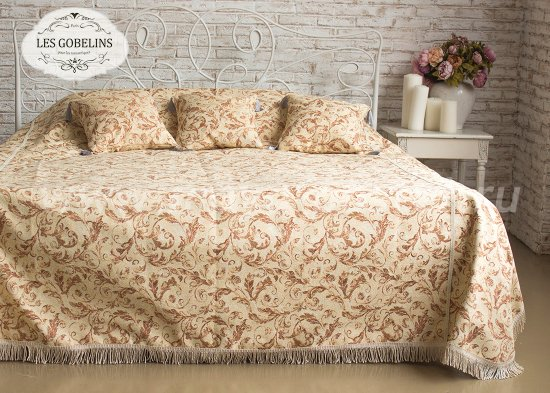 Покрывало на кровать Feuilles Beiges (120х220 см) - интернет-магазин Моя постель