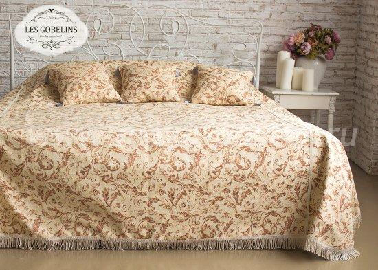 Покрывало на кровать Feuilles Beiges (230х230 см) - интернет-магазин Моя постель