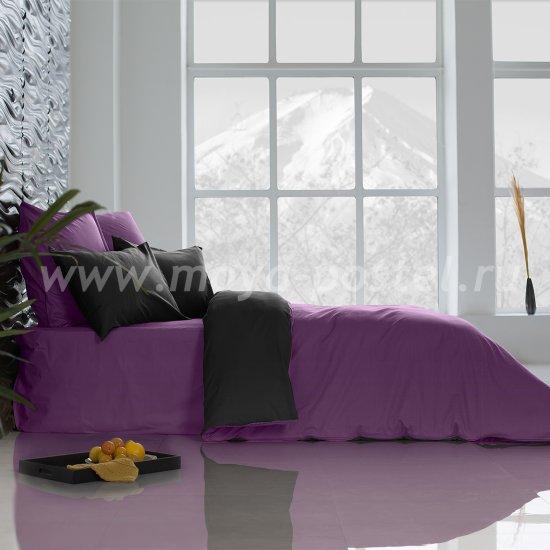 Постельное белье Perfection Цвет: Ультрафиолетовый + Уголь (1,5 спал.) в интернет-магазине Моя постель