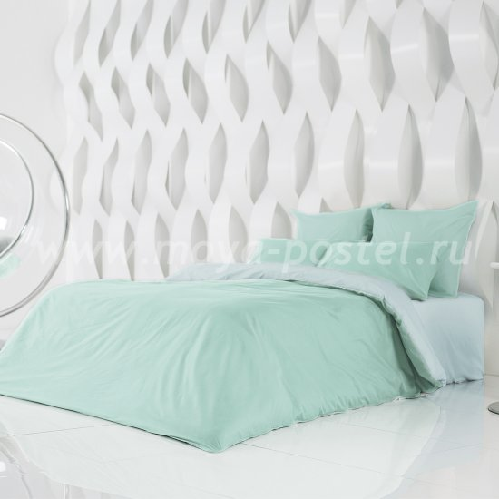 Постельное белье Perfection: Перечная Мята + Небесно Голубой (1,5 спальное) в интернет-магазине Моя постель