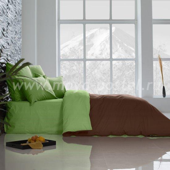 Постельное белье Perfection: Темный Шоколад + Лайм Благородный (1,5 спальное) в интернет-магазине Моя постель