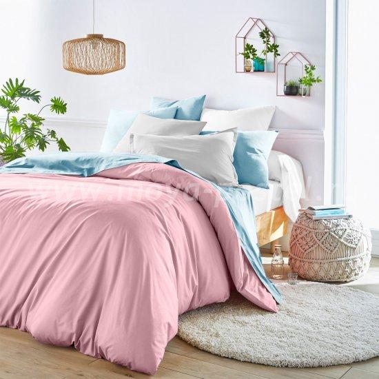 Розовый пододеяльник (180х215 см) + наволочки (50х70)  в интернет-магазине Моя постель