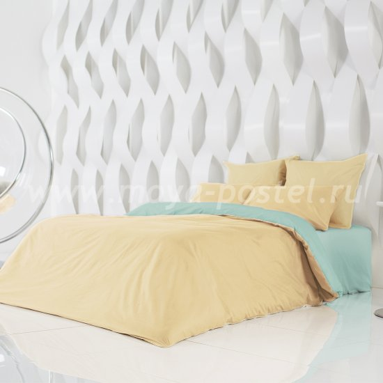 Постельное белье Perfection: Солнечный Абрикос + Перечная Мята (евро) в интернет-магазине Моя постель
