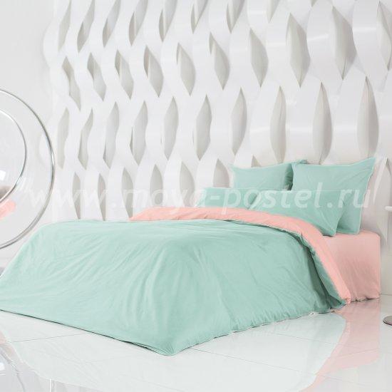 Постельное белье Perfection: Перечная Мята + Цветущий Георгин (евро) в интернет-магазине Моя постель