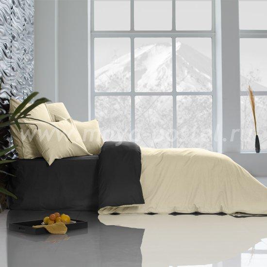 Постельное белье Perfection: Уголь + Ветка Ванили (евро) в интернет-магазине Моя постель