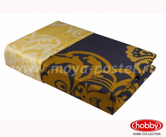 Черное постельное белье «MONART», семейное, сатин, золотой орнамент в интернет-магазине Моя постель - Фото 2