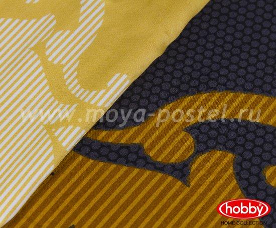 Черное постельное белье «MONART», семейное, сатин, золотой орнамент в интернет-магазине Моя постель - Фото 3