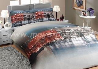 Двуспальное постельное белье «NEWYORK» с фотографией Нью-Йорка, поплин в интернет-магазине Моя постель