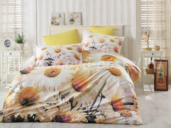 Постельное белье «DAISY» с цветочным 3D принтом, поплин, евро в интернет-магазине Моя постель