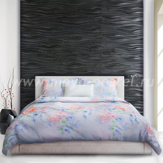 Светло-голубое постельное белье «Yukata» (Юката), евро в интернет-магазине Моя постель