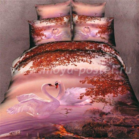 Семейный комплект постельного белья 3D мако-сатин D073 ++ (70*70) в интернет-магазине Моя постель
