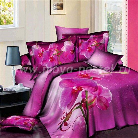 Двуспальный комплект постельного белья 3D мако-сатин D084 ++ (70*70) в интернет-магазине Моя постель