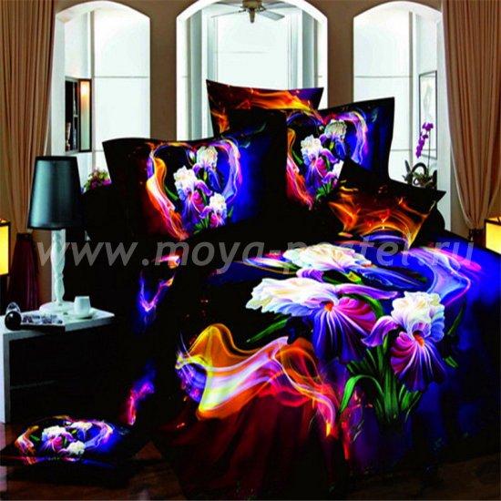 Двуспальный комплект постельного белья 3D мако-сатин D087 ++ (70*70) в интернет-магазине Моя постель