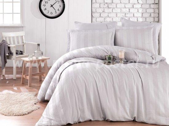Серое постельное белье «VALERIAN» из сатина, евро в интернет-магазине Моя постель