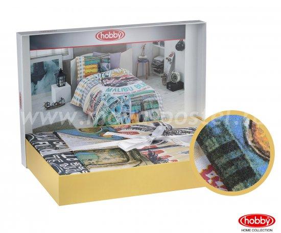 Полутороспальное постельное белье «MALIBU BEACH» с принтом на пляжную тематику, мультиколор, поплин в интернет-магазине Моя постель - Фото 2
