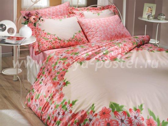 Розовое постельное белье «ESPERANZA», поплин, евро в интернет-магазине Моя постель