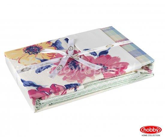 Розовое постельное белье «NORMA» евро размера, поплин в интернет-магазине Моя постель - Фото 3