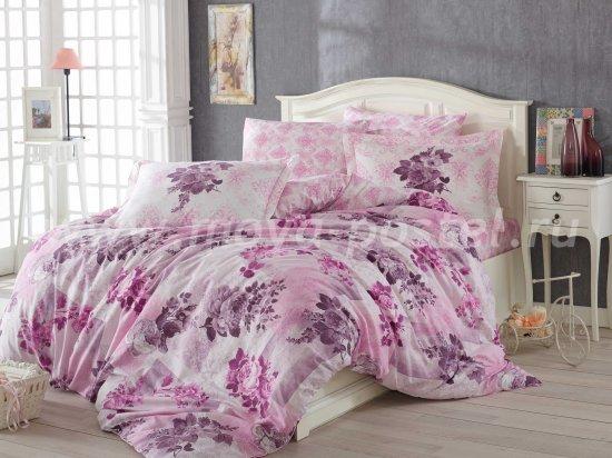 Нежно-розовый комплект белья Лилу двуспальный, хлопок