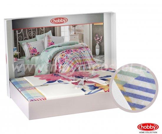 Розовое постельное белье «NORMA» евро размера, поплин в интернет-магазине Моя постель - Фото 2