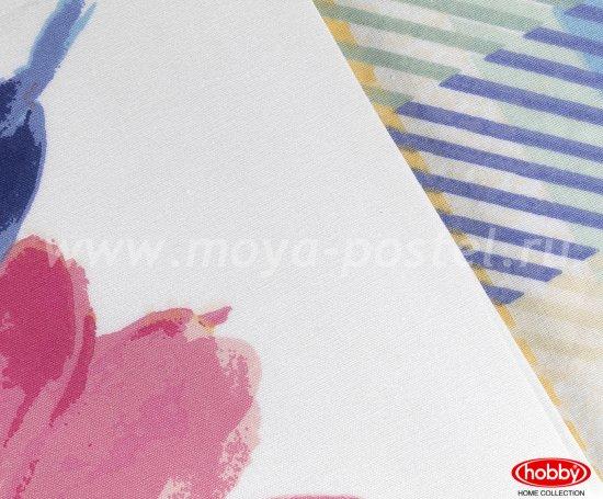 Розовое постельное белье «NORMA» евро размера, поплин в интернет-магазине Моя постель - Фото 4