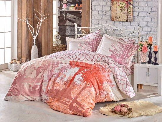 Розовый КПБ евро, хлопок в интернет-магазине Моя постель