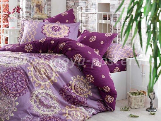 Постельное белье «OTTOMAN» фиолетовое, полутороспальное, сатин в интернет-магазине Моя постель