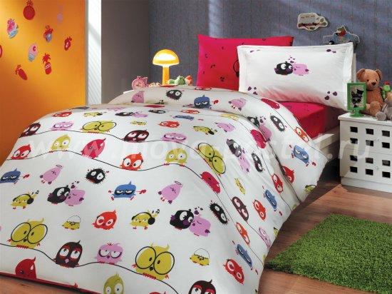Постельное белье «CRAZY BIRDS» из поплина, детское в интернет-магазине Моя постель