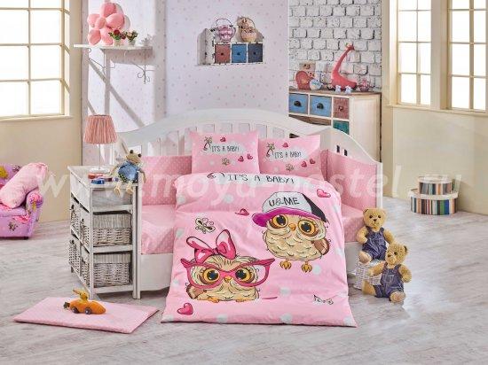 Детское постельное белье из поплина «COOL BABY» с одеялом, розовое в интернет-магазине Моя постель