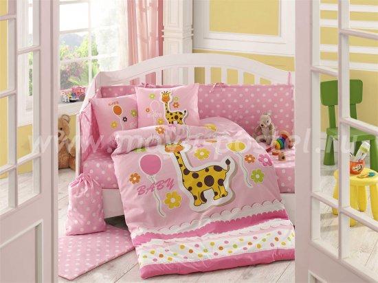 Розовое постельное белье с одеялом «PUFFY» из поплина, детское в интернет-магазине Моя постель