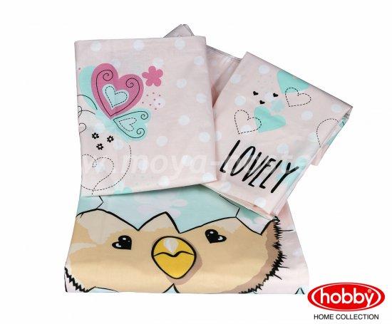 Детское постельное белье «LOVELY» персикового цвета, поплин в интернет-магазине Моя постель - Фото 2
