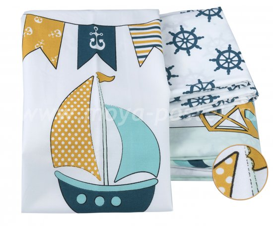 Детское постельное белье «BABY SAILOR» мятного цвета в интернет-магазине Моя постель - Фото 2