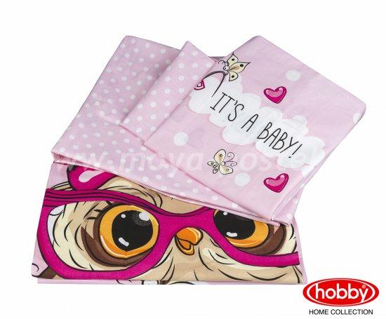 Розовое постельное белье «COOL BABY», поплин, детское в интернет-магазине Моя постель - Фото 2